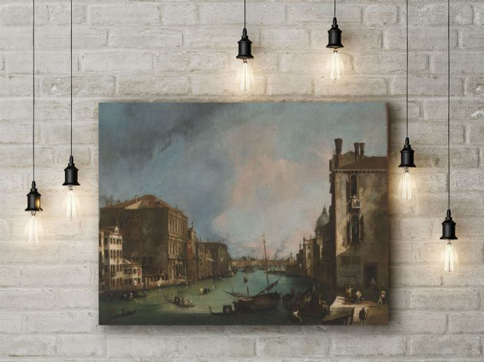 Canaletto: The Grand Canal in Venice with the Palazzo Corner. Fine Art Canvas.